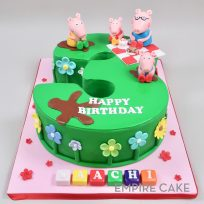Peppa Pig  Picnic on Sculpted Number
