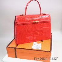 Red Birkin Bag and Hermès Gift Box