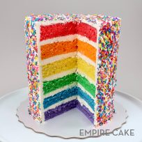 Six Layer Rainbow Sprinkle Cake