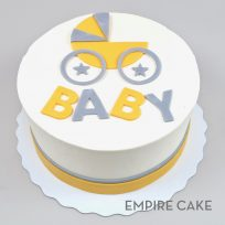 Yellow and Gray Baby Carriage