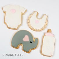 Baby Elephant Shower Cookies