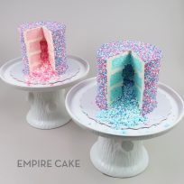 Sprinkle-Covered Spill Cakes