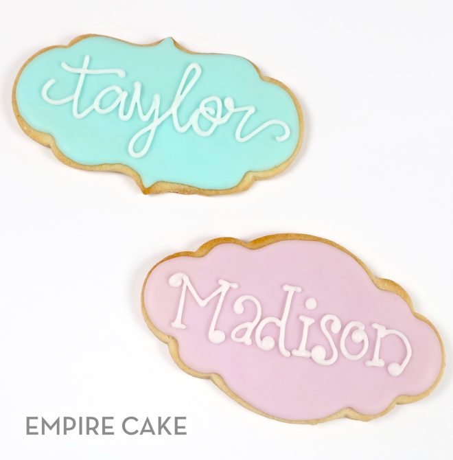 Royal Icing Name Plaques