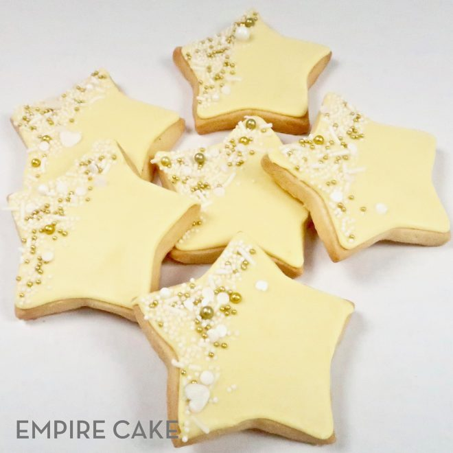 Royal Icing Stars and Sprinkles