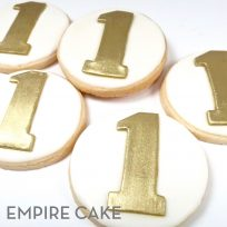 Gold Fondant Number Cookies