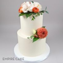Buttercream and fall flowers