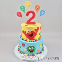 Sesame Street with Balloons and Number Topper