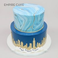 Gold Skyline and Marbleized Fondant