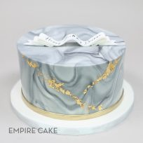 Marbleized Fondant with Gold Leaf