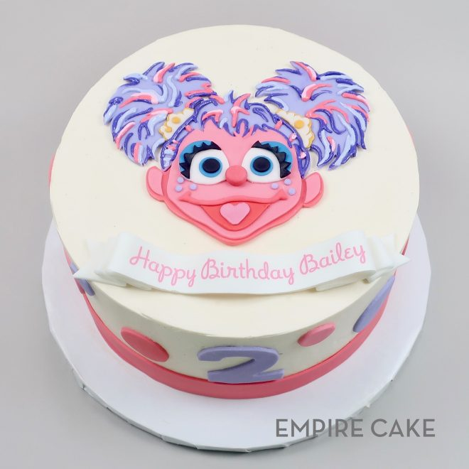Miraculous Abby From Sesame Street Flat Fondant Empire Cake Birthday Cards Printable Nowaargucafe Filternl