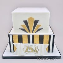 Art Deco Stripes (two tier)