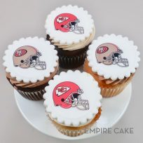 Favorite Team Topper Cupcakes (edible print)