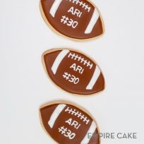 Personalized Football Cookies
