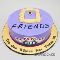 Friends (flat fondant on tinted buttercream version)