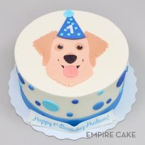 Golden Retriever (flat fondant)