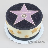 Hollywood Walk of Fame Star (edible print version)