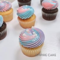 Iridescent Glitter on Swirled Buttercream Cupcakes