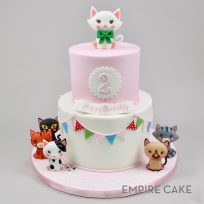 Kitty Cats and Bunting (two tier)