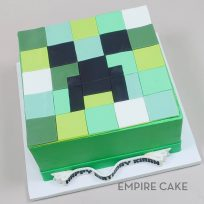 Minecraft Creeper (flat fondant)