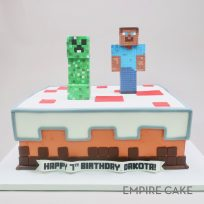 Minecraft Creeper and Steve