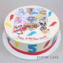 Paw Patrol – Mighty Pups (edible print with fondant details)
