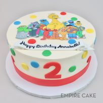 Sesame Street with Polka Dots (edible print)