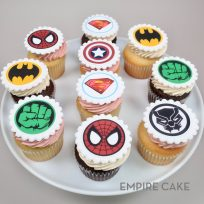 Superhero Edible Print Topper Cupcakes