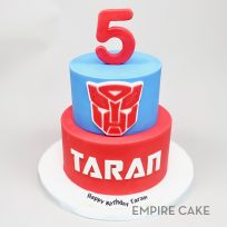 Transformers (red and blue two tier)