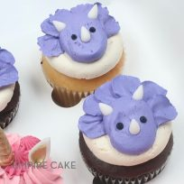 Buttercream Triceratops Cupcakes