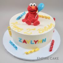 Elmo with Streamers and Balloon