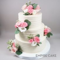 Fresh Roses and Greenery with Textured Buttercream