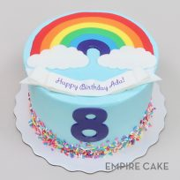 Fondant Rainbow and Sprinkles with Number