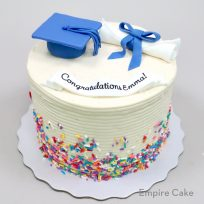 Graduation Cap, Diploma and Sprinkles