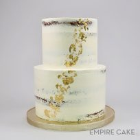 Two-Tier Naked with Gold Leaf