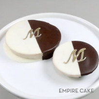 Black and White Gold Initial Cookies