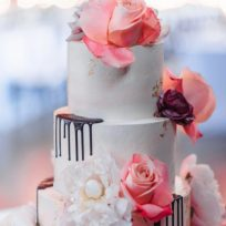 Roses, Peonies, Chocolate Drip and Gold Leaf
